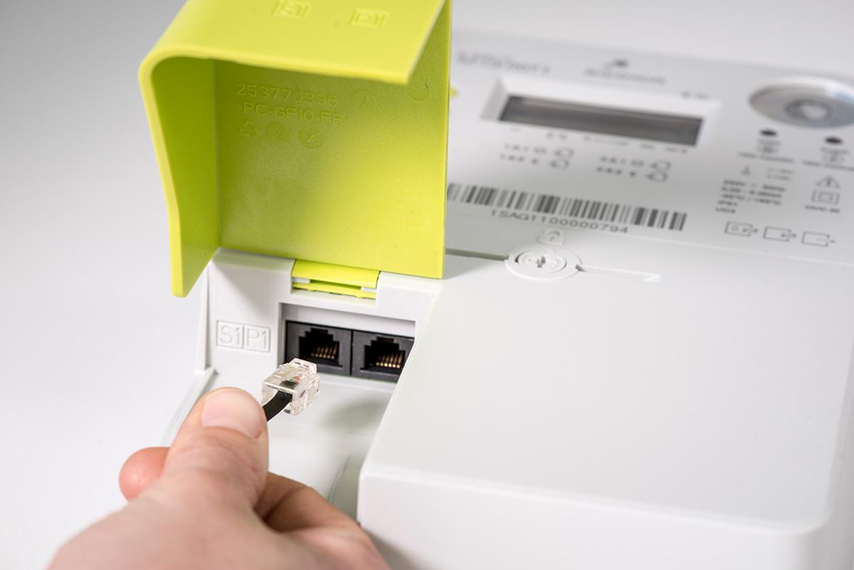 P1 poort digitale meter
